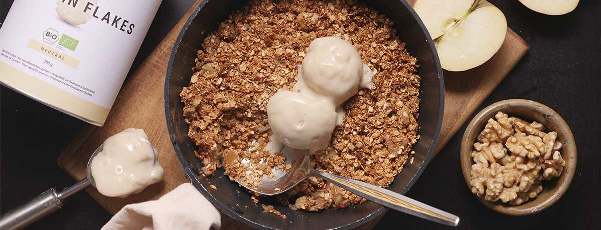 Protein Apple Crumble