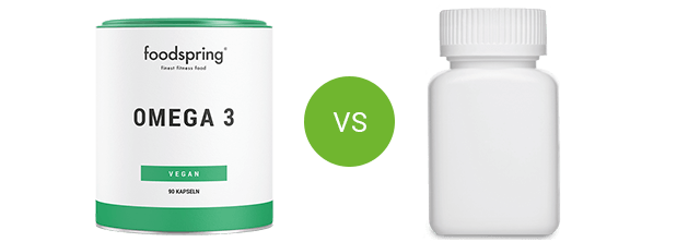 Omega-3 by foodspring vs. competitor product