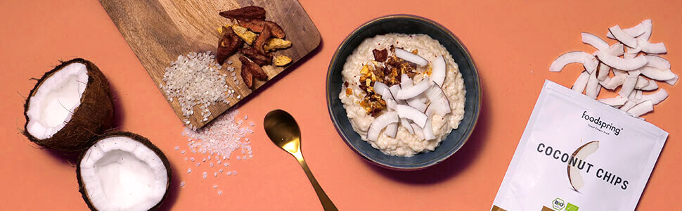 Protein coconut rice pudding